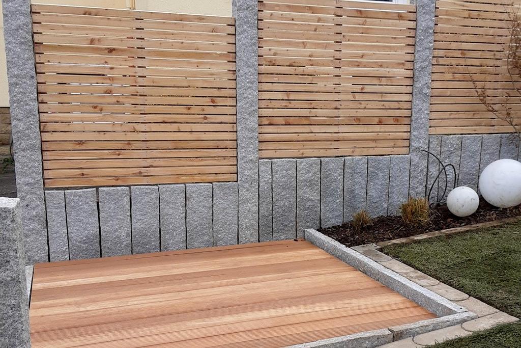 Holzböden und Verkleidungen, Zäune