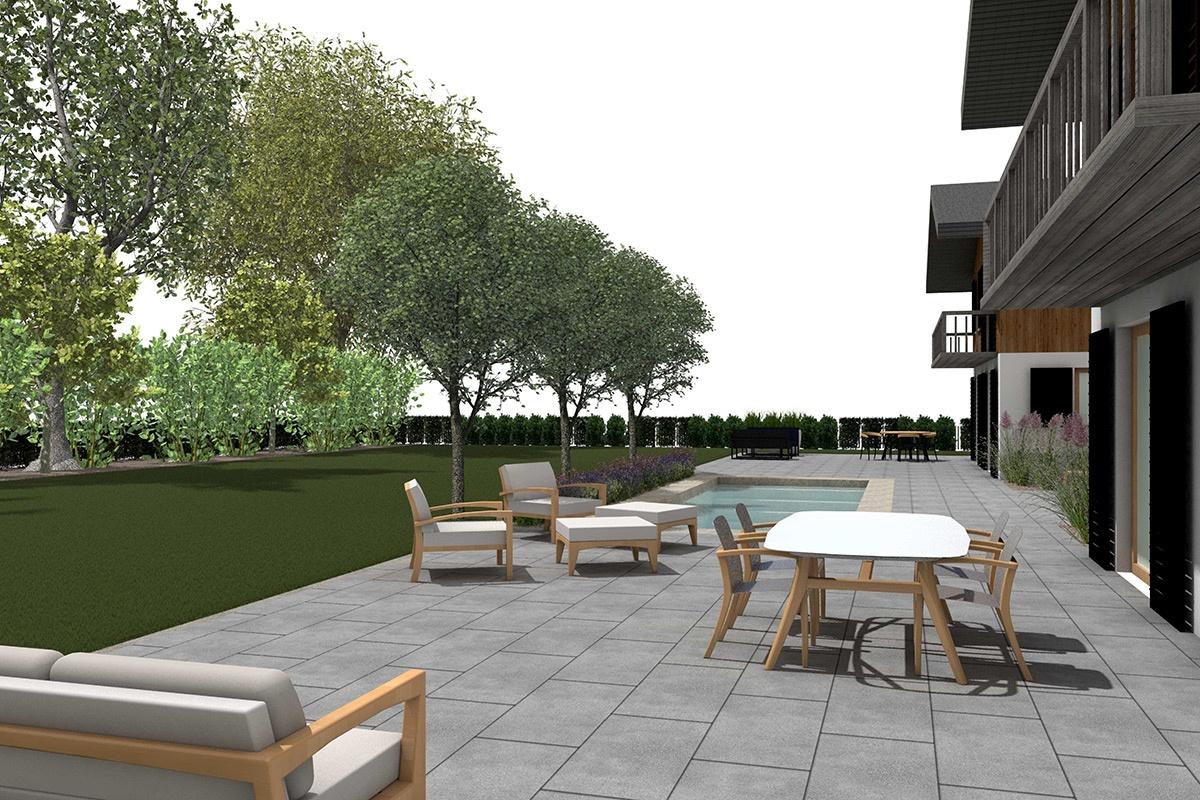Landhaus Garten, in 3D geplant